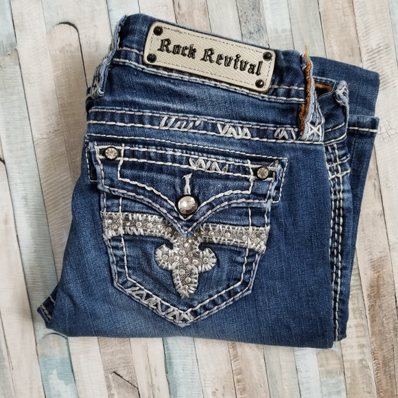 Rock Revival Denim - Rock Revival Jillian Easy Boot Cut Jeans